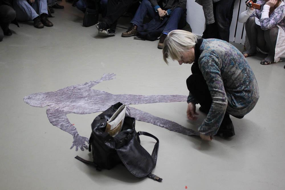 Ruth Knecht Solo, Artclub, Cologne, 01.04.2011, Foto Nora Debus